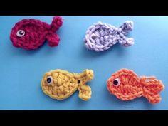 Very Easy Crochet Fish Applique - YouTube