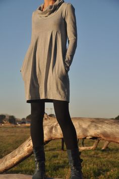 Cowl+dress+with+pockets+by+moonseats+on+Etsy,+$55.00