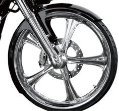 """RWD 26"""" Steel Wrap Front Fender w/ Raw Spacers 94-13 HD Touring Baggers 6""""w"""