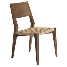 McGuire Furniture: Seido Walnut Side Chair: No. M-414