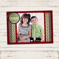Christmas Photo Card  5x7 printable download  by ValeriePullam, $14.00