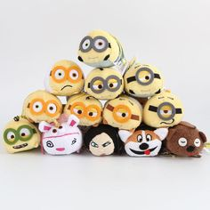 Tsum Tsum Toys Tsum Minions Anime Despicable Me 3 Minions Plush Doll Mobile Screen Cleaner Plush Toys For Mobile Phone Or Ipad Size:9*5*6cm From Warm_home, $2.52 | Dhgate.Com