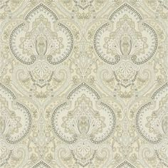 Castlehead Paisley - Pearl wallpaper, from the Signature Papers collection by Ralph Lauren