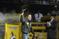 Ladies and gentlemen, Trevor Brazile. See more of your favorite rodeo pics here>> http://my.gactv.com/wrangler-national-finals-rodeo/multigallery.esi