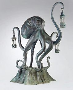 Living room octopus wall sculpture