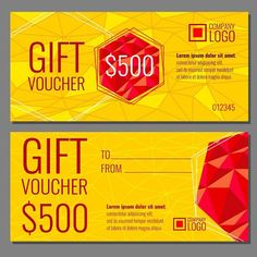 Present Voucher Template Navy & Coral Styled Mockup #113  Mockup And Navy