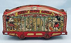 1930's Disney, Lionel Mickey Mouse Circus Train Car