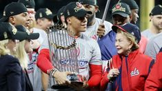 """¡Historia! Nacionales ganan la SM por primera vez, """"Es un grupo de chicos resistentes e implacables"""", afirmó Martínez. Ha peleado todo el año Bryce Harper, Captain Hat, Baseball Cards, Los Angeles Dodgers, New York Yankees, Texas Rangers, St Louis Cardinals, Boston Red Sox, Free Agent"""