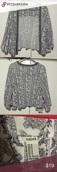 F21 kimono In great condition. Forever 21 Sweaters Cardigans