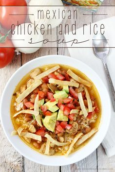 This Mexican Chicken and Rice Soup is quick to make and full of flavor! It gets off to a quick start with Swanson Chicken Broth! #SwansonSummer #Ad
