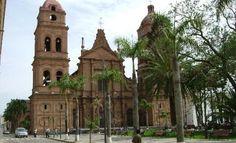 Cathedral in La Plaza de Septiembre - Santa Cruz, Bolivia