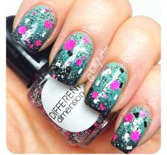 Sparkly gray with pink white black sparkles & sprinkles design