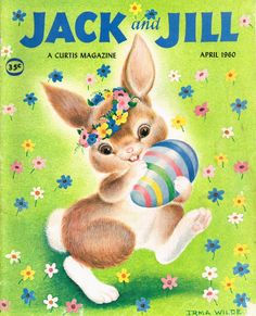 Vintage Jack and Jill Easter Cover, April 1960 Kangaroo Jack, Captain Kangaroo, Hoppy Easter, Easter Bunny, Easter Art, Easter Ideas, Easter Eggs, Vintage Easter, Vintage Holiday