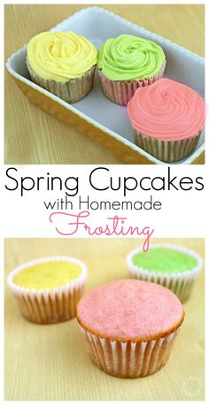Adding different gelatin flavors to the cupcakes and frosting, make it easy to create these beautiful pastel colors. Spring Cupcakes with Homemade Frosting. The Flying Couponer. | Family. Travel. Saving Money.