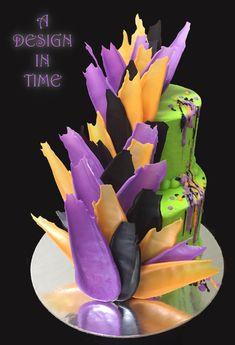 Ganache Brush Stroke Cake - Beautiful Ganache Cake made with Master Martini White Chocolate Ganache. Brushstroke Decorations made with Centramerica Color Compounds. White Chocolate Ganache, Chocolate Art, Edible Creations, Cake Creations, Brushstroke Cake, Walnut Kernels, Cake Art, Art Cakes, Acacia Honey