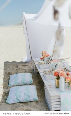 Beach Picnic style wedding