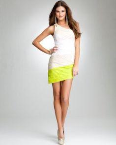 Bebe Ombre Bias Asymmetric dress