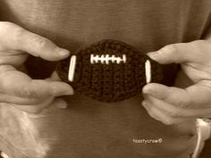 Free Crochet Pattern for a Football Applique