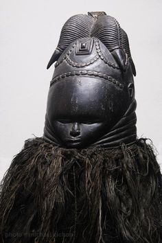 Mende Sande Gola wood and metal mask (x)