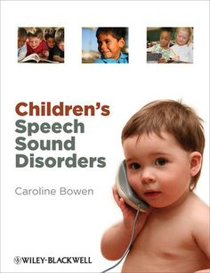 Article:  Children's Speech Sound Disorders: Questions And Answers - - talks about phonological processing disorder as well