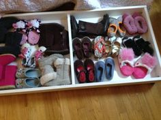 Turning old crib parts into under bed shoe storage. The Coastal Colonial Crib Makeover, Under Bed Shoe Storage, Old Cribs, Reuse, Furniture Design, Lunch Box, Diy Projects, Colonial, Turning