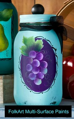 How to Paint a Cluster of Grapes Easily with Priscilla Hauser, The Plaid Palette blog post by Chris Williams