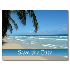 Save the Date for Beach Wedding Post Cards