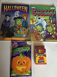 Halloween Coloring and Activity Pack includes One pack of crayons One pack of Play pack (Grab & Go) and two halloween coloring books (Halloween & Ghosts and Goblins). Halloween Toys, Halloween Ghosts, Pack Of Crayons, Monster S, Color Activities, Halloween Coloring, Christmas Toys, Shopkins, Goblin