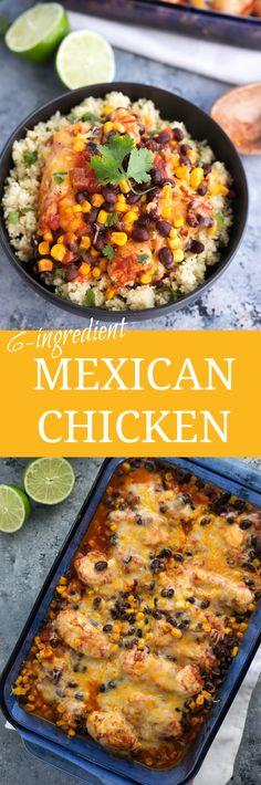 30 Minute, 6-ingredient Mexican Chicken