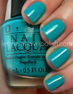 "OPI ""Fly""  Perfect summer or beach color.  THIS is my favorite color!!! Finally found it in a nail polish!!!"
