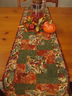 Autumn Colors Table Runner by PatchworkMountain on Etsy