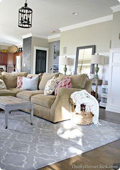 Modern Gray And Tan Living Room Decor Ideas 36