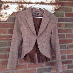 Vintage H&M Tweed Jacket Tails US 6 36 Steampunk