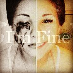 """Photo by wuotes sad quotes :'( when a girl says """"im fine"""" its the total opposite!"""