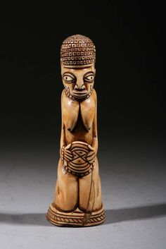 Africa | Carved bone figure from the Yoruba people of Nigeria | ca. 70 years old |Pinned from PinTo for iPad|