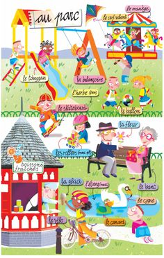 le parc. http://www.collinslanguage.com/media/resources/first-time/french/vocabulary.pdf