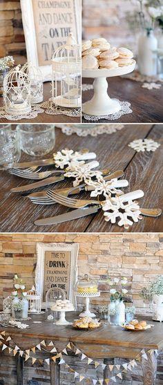 tischdekoration hochzeit blumendeko schneekristallen papier vogelkäfige