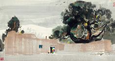 Wu Guanzhong: Household on the Plateau | China Online Museum