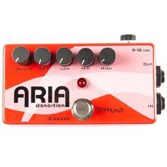 Pigtronix Aria Disnortion Distortion Guitar Effects Pedal by Pigtronix. $149.00. Aria distortion pedal. Save 29% Off!