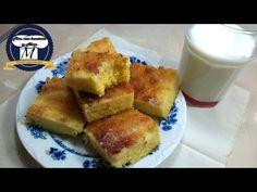 Prajitura rapida cu faina de malai(Cc Eng Sub) Quick Cake, Vanilla Sugar, Cake Flour, Cornbread, Deserts, Make It Yourself, Breakfast, Ethnic Recipes, Sweet