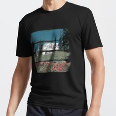 A retro glimpse of Mount Rainer through horizontal paint strokes. • Millions of unique designs by independent artists. Find your thing. Paint Strokes, Cotton Tote Bags, Amazing Photography, Chiffon Tops, Finding Yourself, Classic T Shirts, Canvas Prints, Artists, Retro
