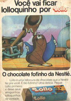 Mais uma pra série de propagandas antigas, essa é do chocolate Lollo, que ficou mto tempo fora do mercado e voltou a pedidos dos seus fãs!  #Lollo #propagandasantigas #chocolate