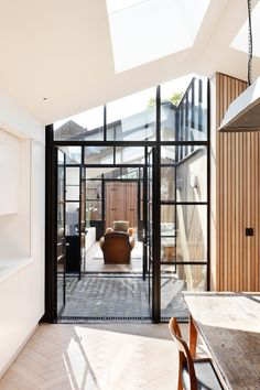 Dwell - The Courtyard House. Im obsessed with black frame windows
