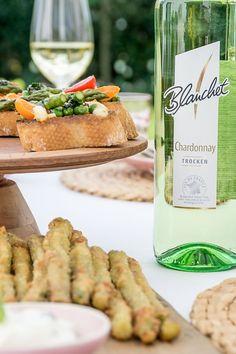 Rezept für Spargel Bruschetta und Fritten aus grünem #Spargel