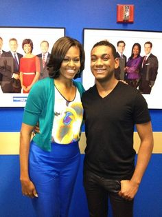 Joshua Ledet meets Michelle Obama.