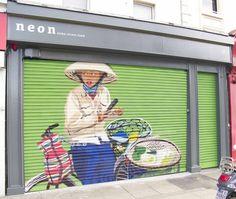 Neon 'asian street food' restaurant by francis curran, via Behance
