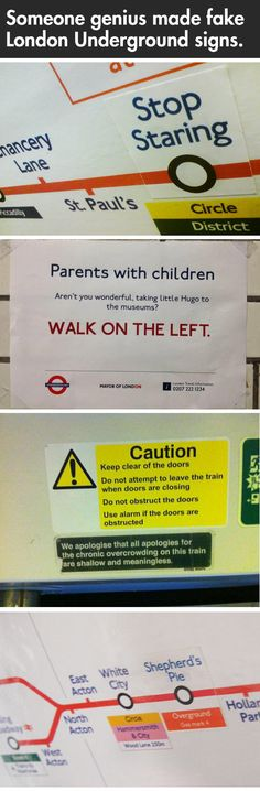 Fake London Underground signs… Amazing.