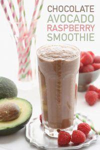 Low Carb Chocolate Avocado Raspberry Smoothie Recipe