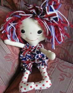 Jubilee traditional Annie doll in Union Jack dress