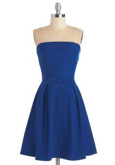Right on Timeless Dress in Cobalt | Mod Retro Vintage Dresses | ModCloth.com